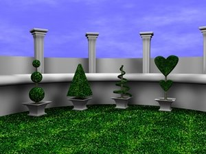 3d topiary columns model