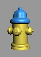 3dsmax hydrant city block