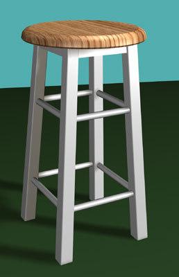 3d shop stool model