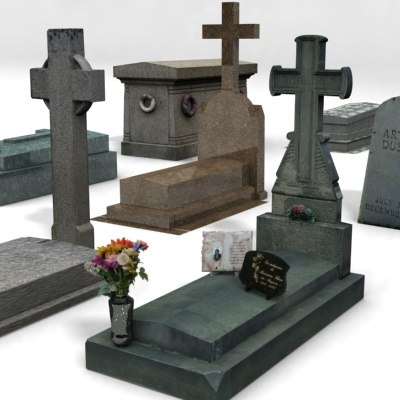 maya cemetery - tombstones stone