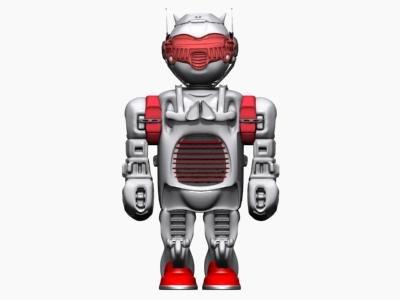 toy robot 3d max