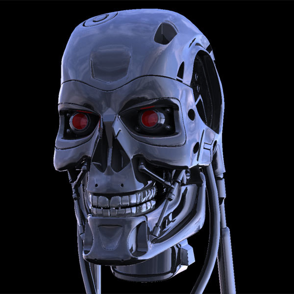 terminator cyborg 3d model