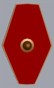 praetorian guard shield 3d 3ds