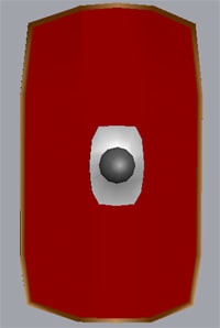 3d 3ds legionary scutum roman shield