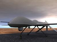 predator military surveillance 3d model