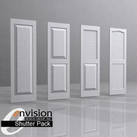 3dsmax shutters panel louver