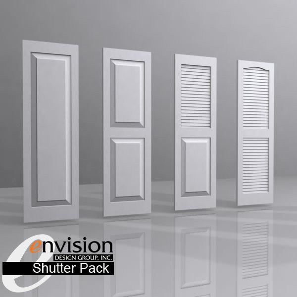 3dsmax shutters panel louver