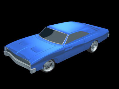 3ds max muscle car