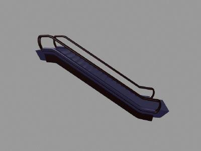 3d 3ds escalator