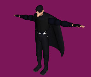 3d model character man cartoon