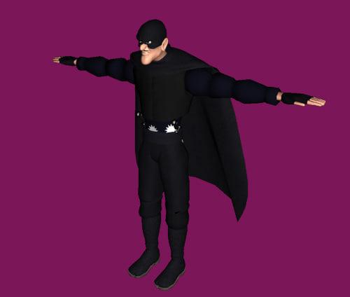 3d model character man cartoon