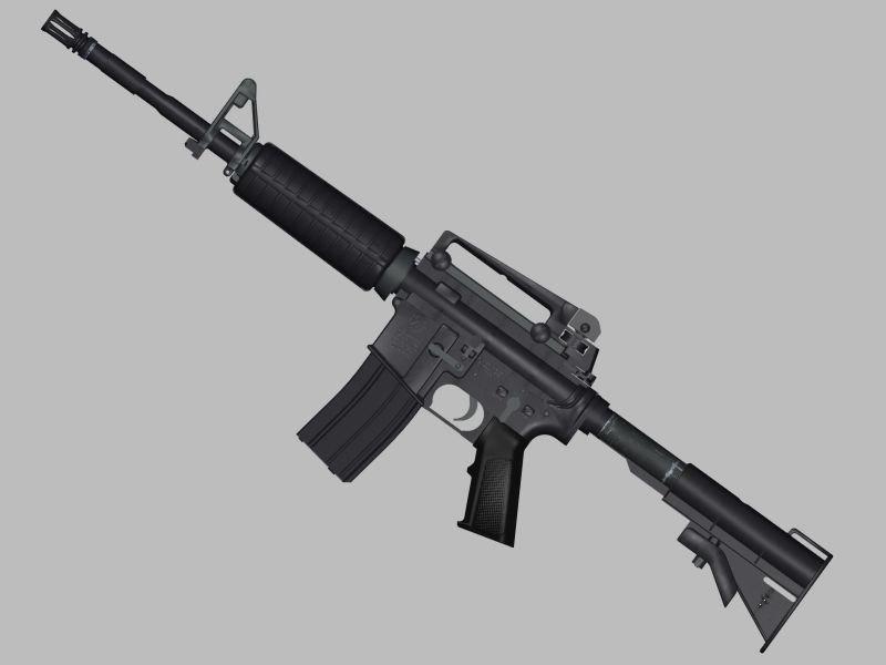 free colt m4a1 carbine 3d model