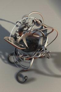 3d model water cup