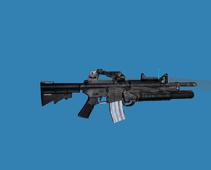 3d colt m4 grenade launcher model