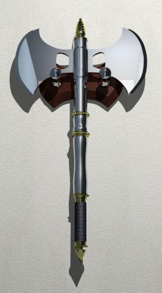 axe weapon 3d model