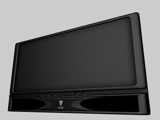 plasma screen television 3d c4d