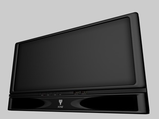 plasma screen television 3d c4d