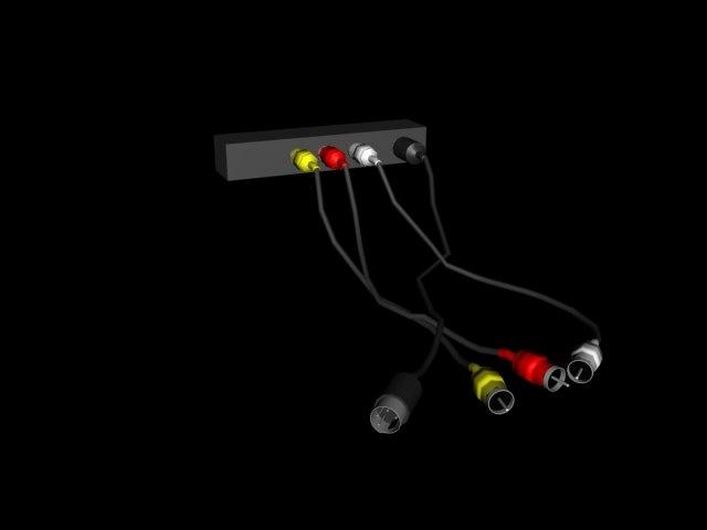 video cables 3d model