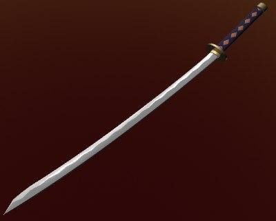 3d model reversed blade