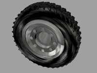 free 3ds model tire military road