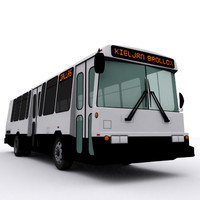 bus diesel 3d model