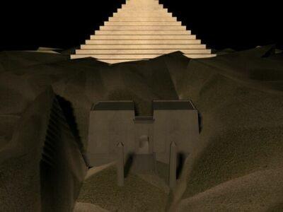 pyramid star gate 3d model