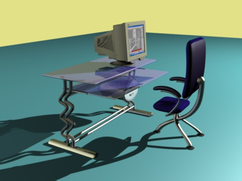 desk chair 3d max