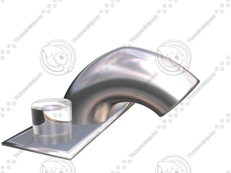 faucet spout 3d 3ds