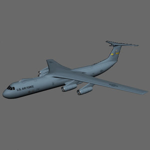 c-141 transport plane 3ds