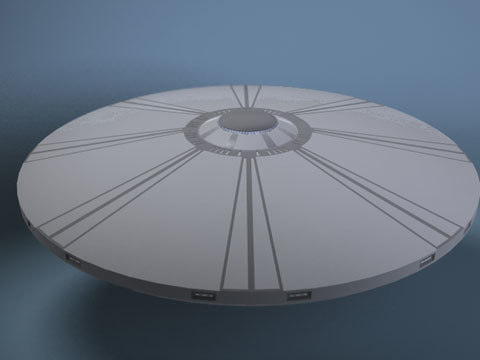 flying saucer ufo 3d lwo