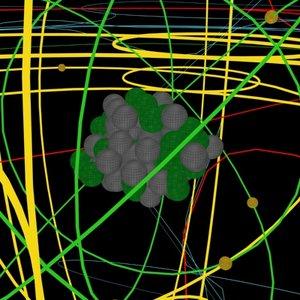 krypton protons electrons nucleus 3d model