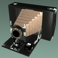 3d Camera Folding Antique