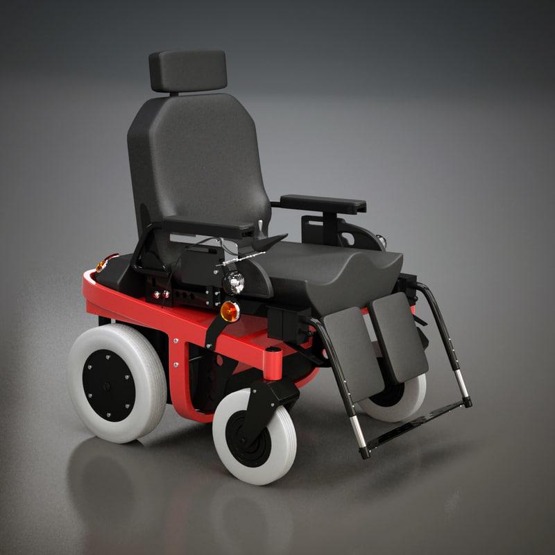 Wheelchair 3D Model - Realtime - 3D Models World