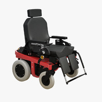 electric wheelchair 3d model
