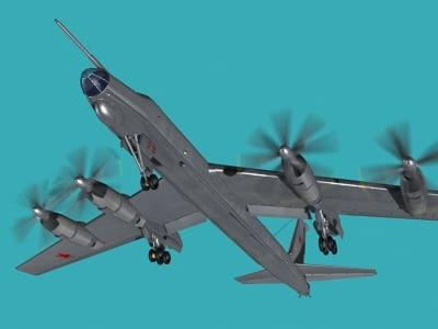 3d aeroplane bomber model
