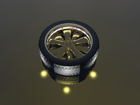 rim tire wheel 3d