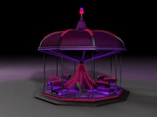 cinema4d neon carousel