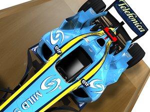 maya renault r24 f1 formula car