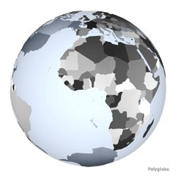 3d country globe