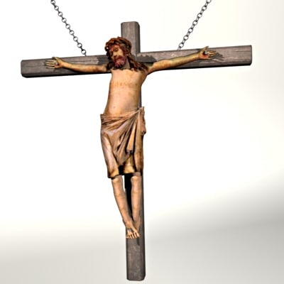 3d crucifix jesus crucifixion model