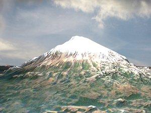 fuji japan summit 3d max