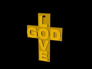 free 3ds model cross religion