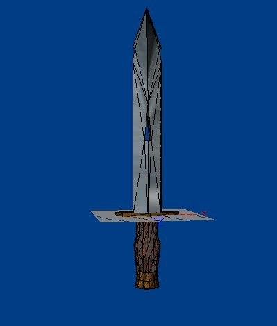 3d lwo short sword x
