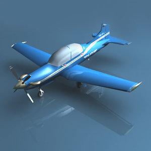 3d pilatus pc-9 plane model