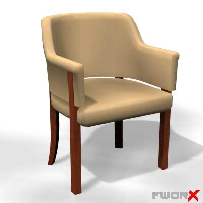 3d model of armchair chair