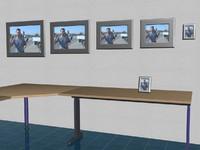 picture-frames set table 3d model