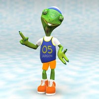 chameleon boy character 3d model