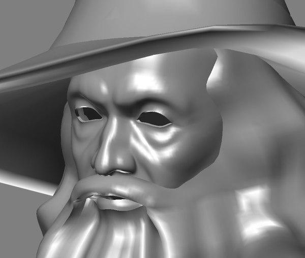 3d model of fantasy man sorcerer