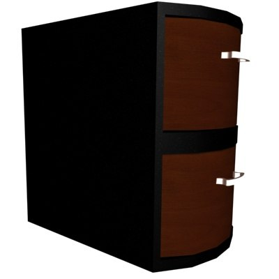 3d file cabinet drawer model