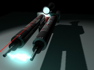free rifle scope 3d model